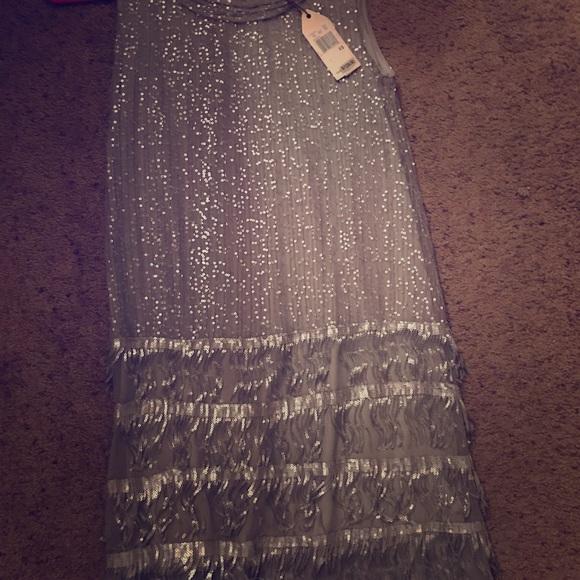 Dresses & Skirts - MSSP XS Silver Sequin 1920's Flapper Dress